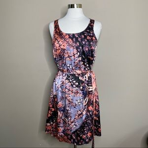 Calvin Klein Fit & Flare Sleeveless Floral Dress